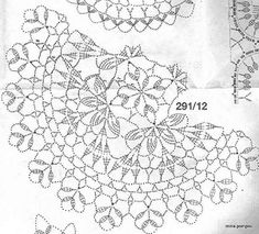 Crochet doilies from web - Barbara H. - Álbuns da web do Picasa Filet Crochet, Mandala Au Crochet, Crochet Doily Diagram, Crochet Doily Patterns, Crochet Chart, Thread Crochet, Crochet Designs, Crochet Stitches, Knit Crochet