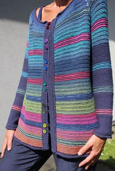 Letters and Arts by Lalá: crochet jacket Crochet Coat, Crochet Jacket, Crochet Cardigan, Crochet Clothes, Lang Yarns, Cardigans For Women, Lana, Mantel, Knitwear