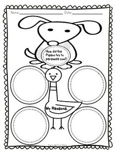 FREE Mo Willems printables: http://www.pigeonpresents.com