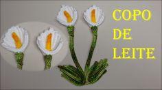 Flor Copo de Leite em Crochê Fácil de Fazer # Wilma Crochê