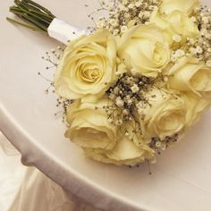 Roses and gipsophila bouquet