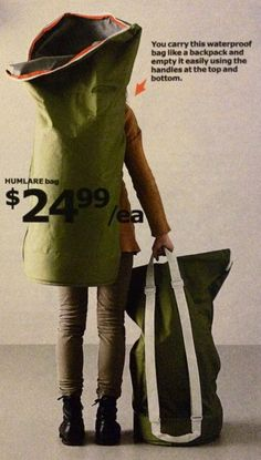 Humlare IKEA - It's a recycling receptacle that you carry like a backpack.