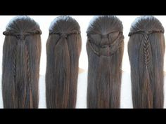 Hairstyles with rope braids - YouTube