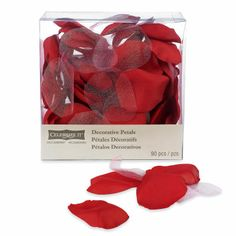 Michaels.com Wedding Department: Red Decorative Petals Red roses often conjure up thoughts of love and romance. These red decorative petals are the perfect accent for your red themed wedding. Available in 90 pieces and 240 pieces.