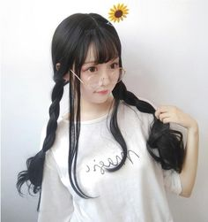 Big wave long roll wig YV40433 | Youvimi Pretty Korean Girls, Cute Korean Girl, Asian Girl, Kawaii Hairstyles, Cute Hairstyles, Korean Bangs Hairstyle, Korean Girl Photo, Girl Trends, Medium Long Hair