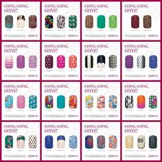 Going, Going, Gone!!! These will be gone forever Feb. 28th!  Get them today at kristenmdriskill.jamberrynails.net! #jamberrynails #goinggoinggone