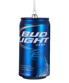 Look what I found on #zulily! Bud Light Can Glass Ornament by Kurt Adler #zulilyfinds
