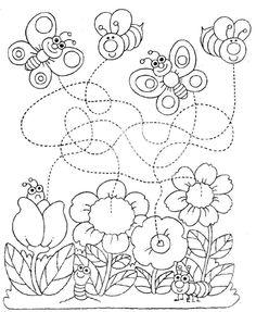 Primavera Spring Activities, Color Activities, Activities For Kids, Spring Crafts For Kids, Projects For Kids, Preschool Fine Motor Skills, Pre Writing Practice, Montessori Art, Daycare Crafts