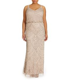 Shop for Adrianna Papell Plus Beaded Blouson Gown at Dillards.com. Visit Dillards.com to find clothing, accessories, shoes, cosmetics & more. The Style of Your Life.