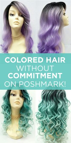 Want the look? But don't want to spend time and $$$?  Buy Poshmark's Boutique Wigs instead! Download Poshmark free, and shop now.