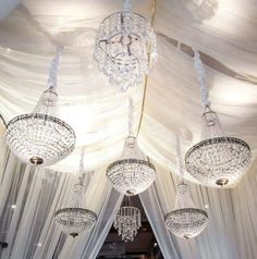 Tents and crystal chandeliers = always a good idea. (Pictured: @Four Seasons Hotel Baltimore)