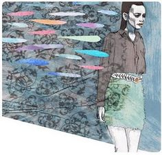 A very nice illustration for Fashion Week Poland from @ickleson AKA well, I don't actually know!