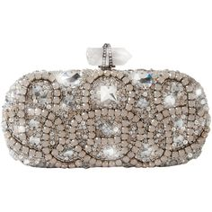 Marchesa Opal Embroidered Clutch (212.855 RUB) ❤ liked on Polyvore featuring bags, handbags, clutches, purses, bolsas, brown handbags, clasp purse, embroidered purses, marchesa and brown purse