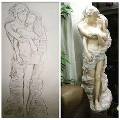 【neko_chiiii】さんのInstagramをピンしています。 《Realism.  #realismo #couple #love #goals #art #arte #creative #桜 #日本 #wip #Doodle #practice #realism #instagram #instaart #shoot #photography #nude #artist #hug #kiss #estatua #creativo #illustration #justartshelp #help #working》