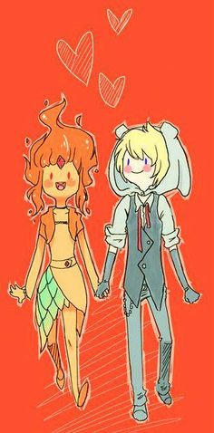 Adventure time - Flame princess & Finn the human