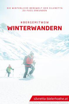 Auf der Silvretta-Bielerhöhe findest Du die idealen Bedingungen, um Dich der Ruhe und Idylle des Schneeschuhwanderns hinzugeben. Eine optimale Alternative für alle, die sich eine Pause vom rasanten Skifahren gönnen möchten. #bergemitwow #silvrettabielerhoehe #winterwandern #schneeschuhwandern #silvretta #montafon #vorarlberg Pause, Mountains, Movies, Movie Posters, Travel, Winter Vacations, Hiking Trails, Ski, Recovery