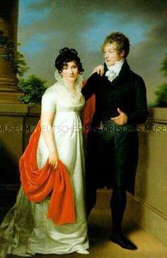 Portrait of Ehebildnis von Emilie and Johann Philipp Petersen - 1806 by Groger, Friedrich Carl Germany, Hamburg German Historical Museum - DHM