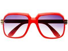 Run DMC Cazal Style Square Sunglasses Red A693