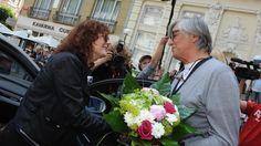 Susan Sarandon and Jiri Bartoska meet at The Karlovy Vary International Film Festival