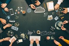 Brainstorming cooperation meeting by CACTUS Creative Studio - Meeting, People - Stocksy United Online Marketing, Digital Marketing, Strategy Meeting, Creative Studio, Royalty Free Stock Photos, Management, Social Media, Projects, Career