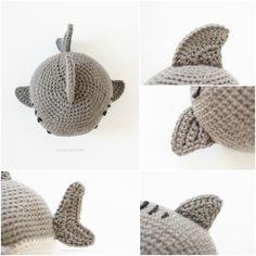 Crochet Shark Fins | www.1dogwoof.com