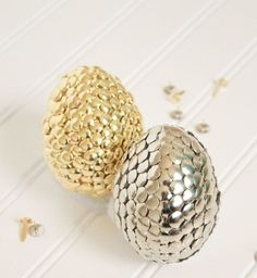 27 Awesome Gold And Copper Easter Décor Ideas : 27 Awesome Gold And Copper Easter Décor Ideas With Copper And Golden Easter Eggs Decor