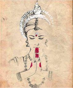 Odissi/Orissi of Odisha - Beautiful classical Indian dance. Dance Paintings, Indian Art Paintings, Abstract Paintings, Oil Paintings, Pencil Art Drawings, Art Drawings Sketches, Indian Illustration, Indian Folk Art, India Art