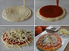 This is the printed pizza made by Natural Machines. Natural Machines is a company in Barcelona that's developing a food printer called the Foodini. I mean, this is the future after all. Impression 3d, Pizza Shapes, 3d Printing Machine, Pizza And More, Making Homemade Pizza, Homemade Ravioli, Perfect Pizza, Pizza Bake, Pizza Dough