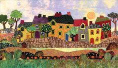 Wonky houses.  Judith Reilly Artwork