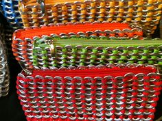 Purses made from soda can rings