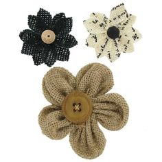 Natural & Black Burlap Printed Flowers | Shop Hobby Lobby $2.99