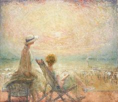 """belgianpaintings: """" """"Alfons Proost (1880-1957) - Soleil couchant, 1924 """" """""""