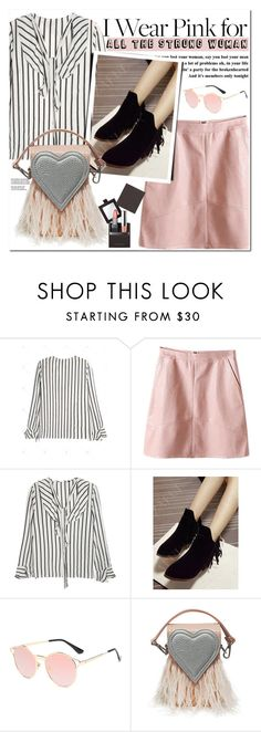"""""""I Wear Pink for..."""" by oshint ❤ liked on Polyvore featuring Laura Mercier"""