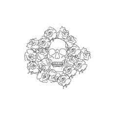 Cover up for my foot tattoo, the skull has to be Day of the Dead though. Skull Tattoos, Body Art Tattoos, The Catacombs, Flower Skull, Skull And Crossbones, Adult Coloring Pages, Cute Drawings, Skull Drawings, Photo Art