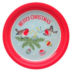 Robins Decorative Tin Tray | View All | CathKidston Christmas And New Year, Christmas Home, Merry Christmas, Christmas Gifts, Christmas Decorations, Holiday, What Does Christmas Mean, Cath Kidston Christmas, Tis The Season