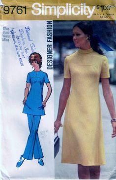 Vintage Pattern Emporium - Vintage 70s Simplicity Designer Dress Or Tunic Pants Pattern 9761 Size 12, $9.90 Free Shipping!!(http://www.vintagepatternemporium.com/vintage-70s-simplicity-designer-dress-or-tunic-pants-pattern-9761-size-12/)
