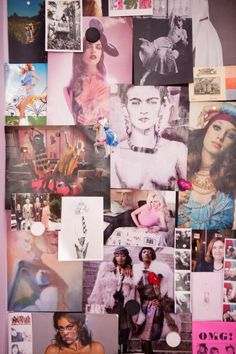 Rose-tinted mood board...click through for more snaps of this pink pad