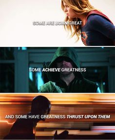 but be not afraid of greatness: #dc>>>this is perfect but I feel like kara' s story isn't about her born with greatness but her choosing it...