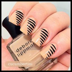 nude with black stripes