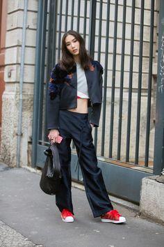 MFW FW15 Street Style (models.com)