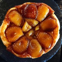 "Amazing lunch at the ""Chaumière"" in Honfleur ! #TarteTatin #traditionaldesert #Normandy"
