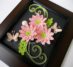 Quilled Butterflies, Flowers & Leaves