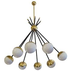 Italian Ceiling Lamp in the Style of Stilnovo | From a unique collection of antique and modern chandeliers and pendants  at https://www.1stdibs.com/furniture/lighting/chandeliers-pendant-lights/