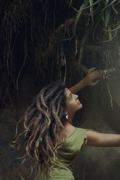 Gypsy locs. I love this picture!