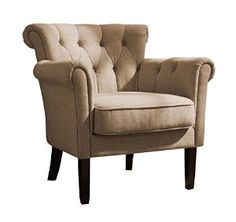 Amazon.com: Homelegance 1193F1S Flared Arm Accent Chair, Khaki Brown: Kitchen & Dining
