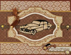 Vintage Cars Black Dazzles™ by Hot Off The Press Inc (4102448)