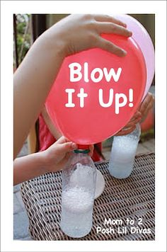 Fun Science Experiment or party activity- No helium needed to blow up balloons-Just use baking soda-So much fun for the kids