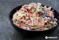 Coleslaw - amerikai káposztasaláta    Saláta  30 dkg káposzta  30 dkg vöröskáposzta  2 közepes db sárgarépa  1 közepes fej vöröshagyma  Dresszing  15 dkg tejföl  15 dkg majonéz  1 teáskanál almaecet  1 teáskanál fokhagymapor  2 ek porcukor  őrölt bors ízlés szerint  só ízlés szerint High Protein Vegetarian Recipes, Healthy Recipes, Healthy Foods, Cabbage, Vitamins, Sandwiches, Food And Drink, Dishes, Vegetables