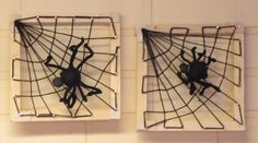 knutsel: Spin in web Halloween Arts And Crafts, Fall Crafts For Kids, Diy For Kids, Spider Crafts, Halloween Spider, Plate Crafts, Wooden Crafts, Elementary Art, String Art