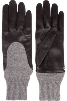 Gucci Leather and Cashmere gloves  495 Cashmere Gloves e1049bc3f23